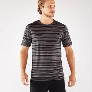 Manduka Yoga-Shirt CROSS TRAIN TEE BLACK/THUNDER schwarz-grau für Männer 1