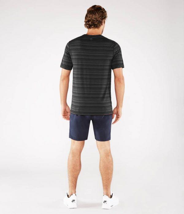 Manduka Yoga-Shirt CROSS TRAIN TEE BLACK/THUNDER schwarz-grau für Männer 6