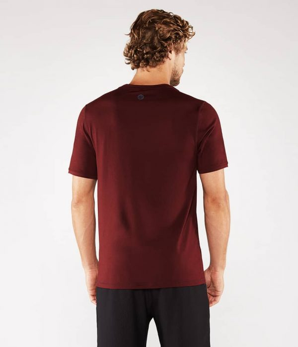 Manduka Yoga-Shirt CROSS TRAIN TEE PORT dunkel-rot für Männer 2