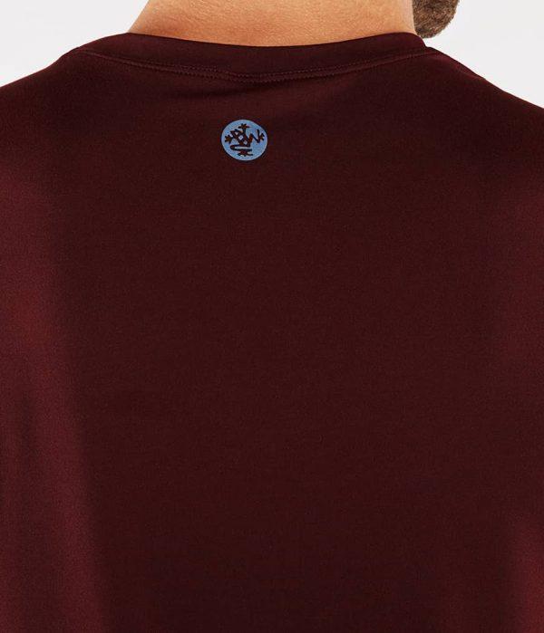 Manduka Yoga-Shirt CROSS TRAIN TEE PORT dunkel-rot für Männer 4