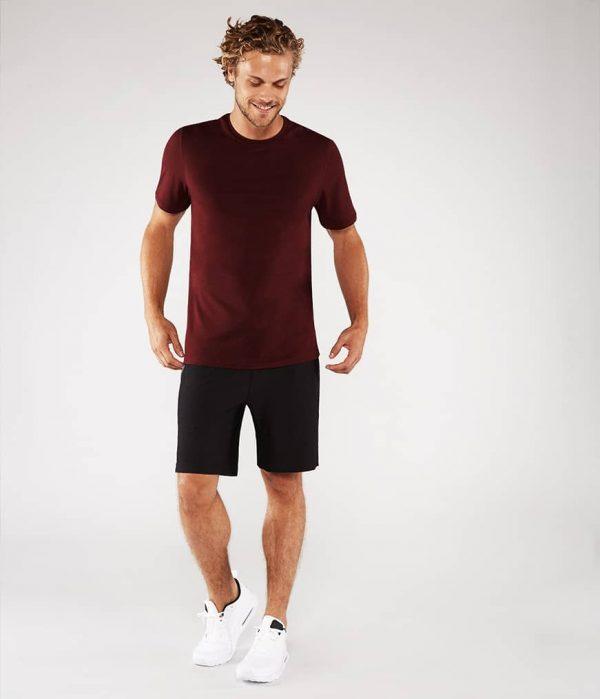 Manduka Yoga-Shirt CROSS TRAIN TEE PORT dunkel-rot für Männer 5