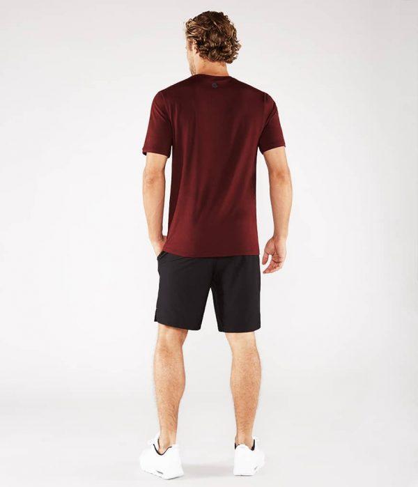 Manduka Yoga-Shirt CROSS TRAIN TEE PORT dunkel-rot für Männer 6