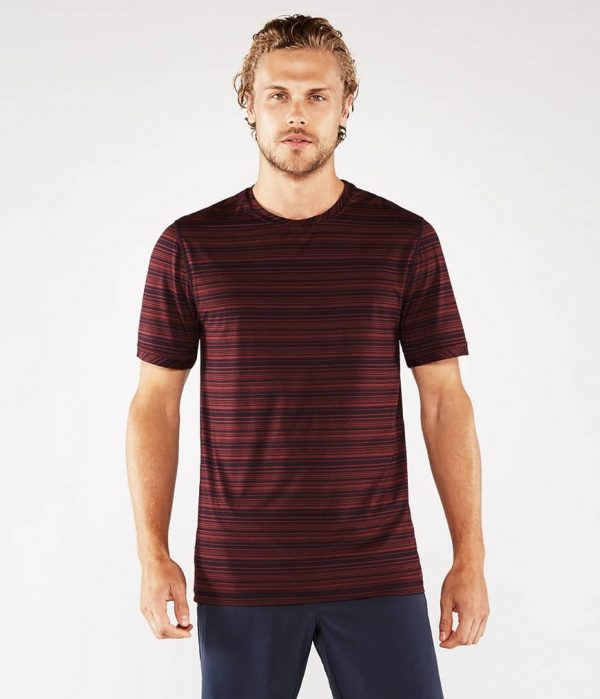 Manduka Yoga-Shirt CROSS TRAIN TEE PORT/MIDNIGHT rot-blau für Männer 1