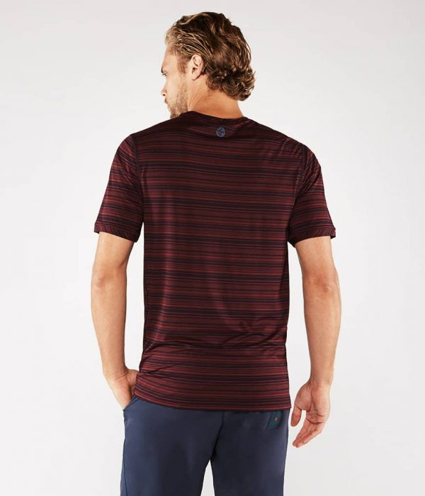 Manduka Yoga-Shirt CROSS TRAIN TEE PORT/MIDNIGHT rot-blau für Männer 4